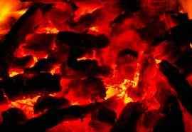 燃烧的木炭创意设