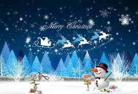 圣诞快乐圣诞树雪人艺术设计精选桌面壁纸下载