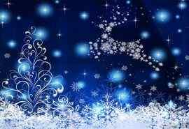 蓝色圣诞节唯美艺术设计桌面壁纸