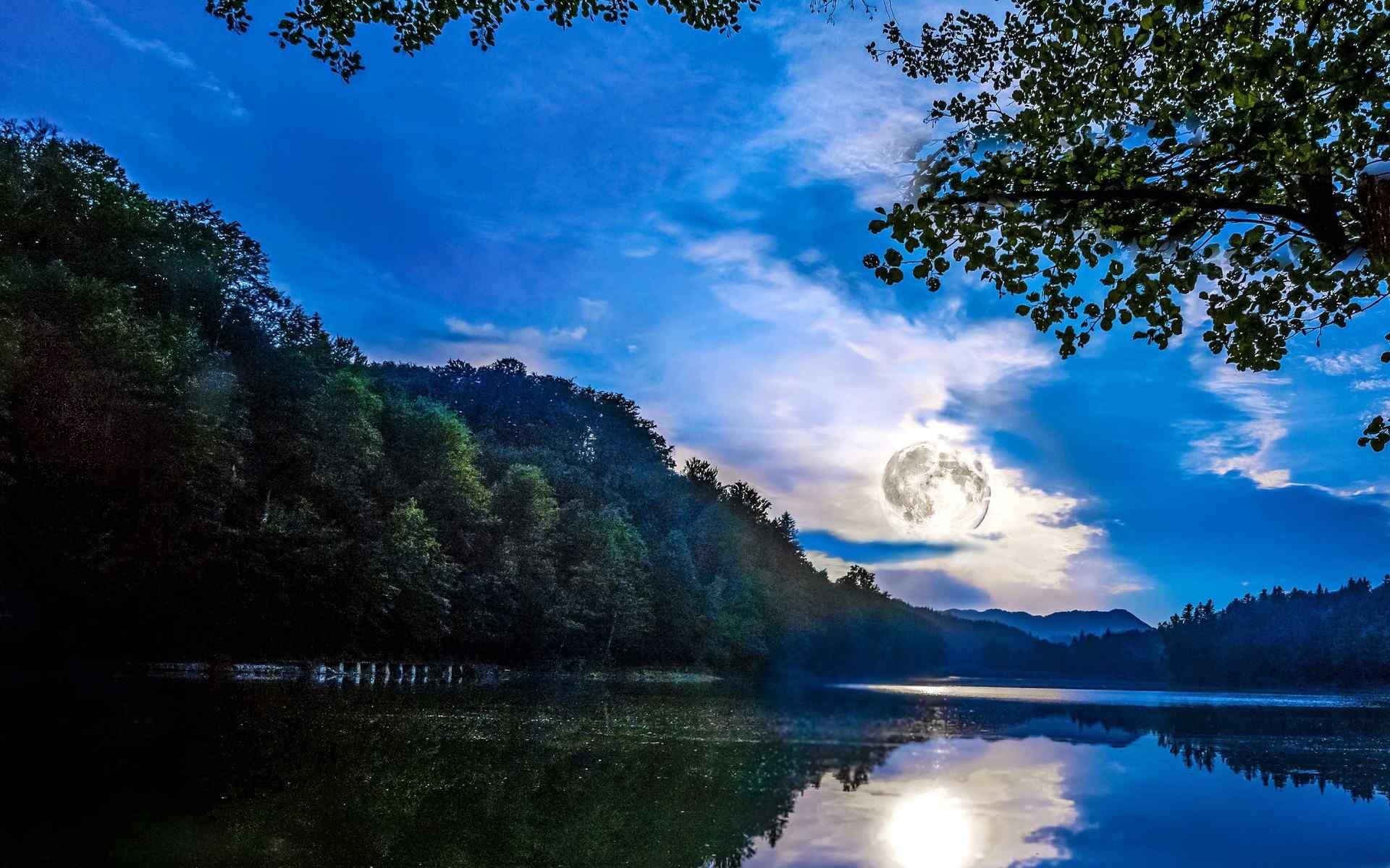清新怡人的自然山水风景高清电脑壁纸