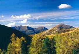 奥地利蓝天白云自然风景桌面壁纸