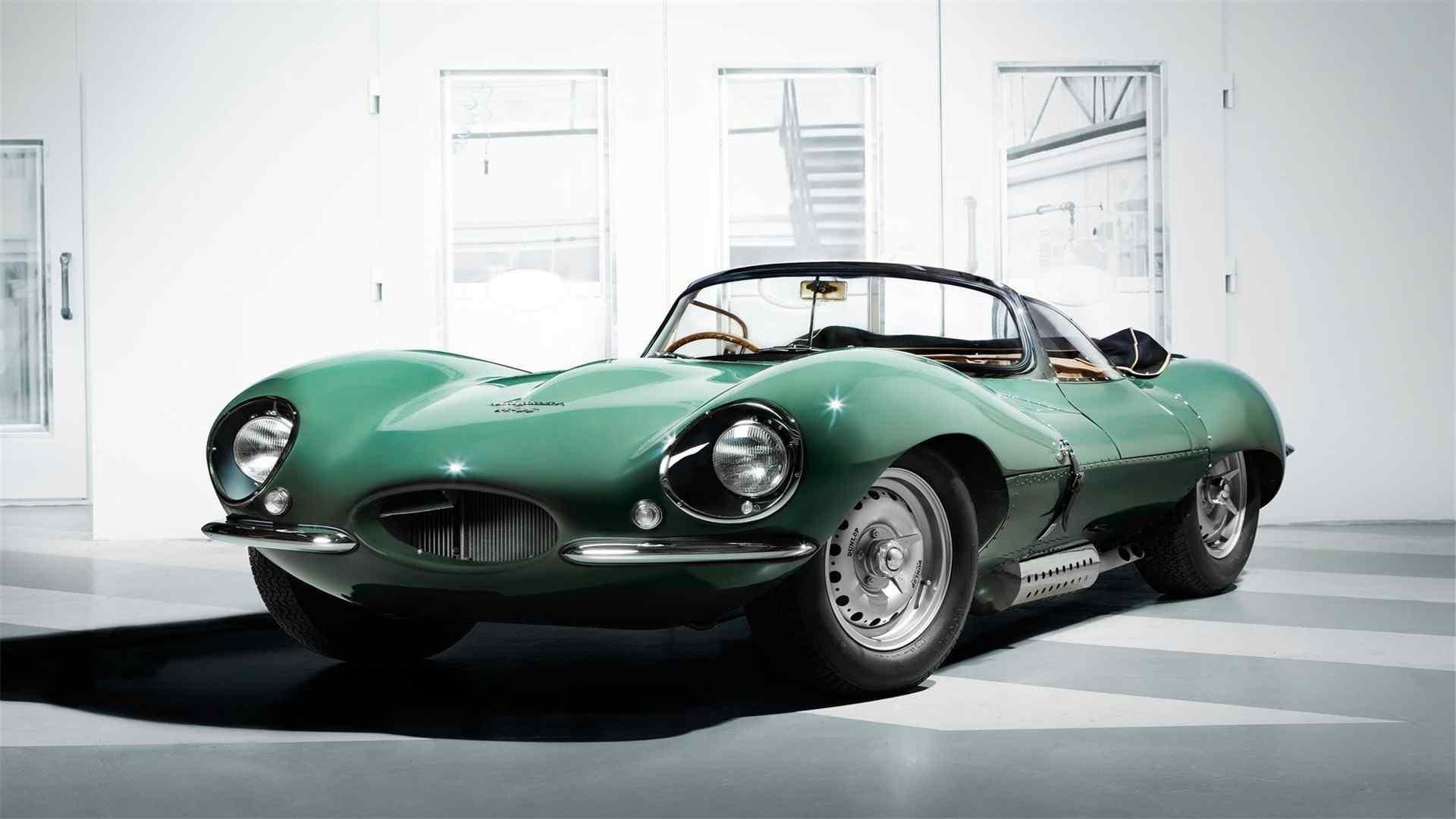 复古捷豹xkss57绿色跑车高清桌面壁纸