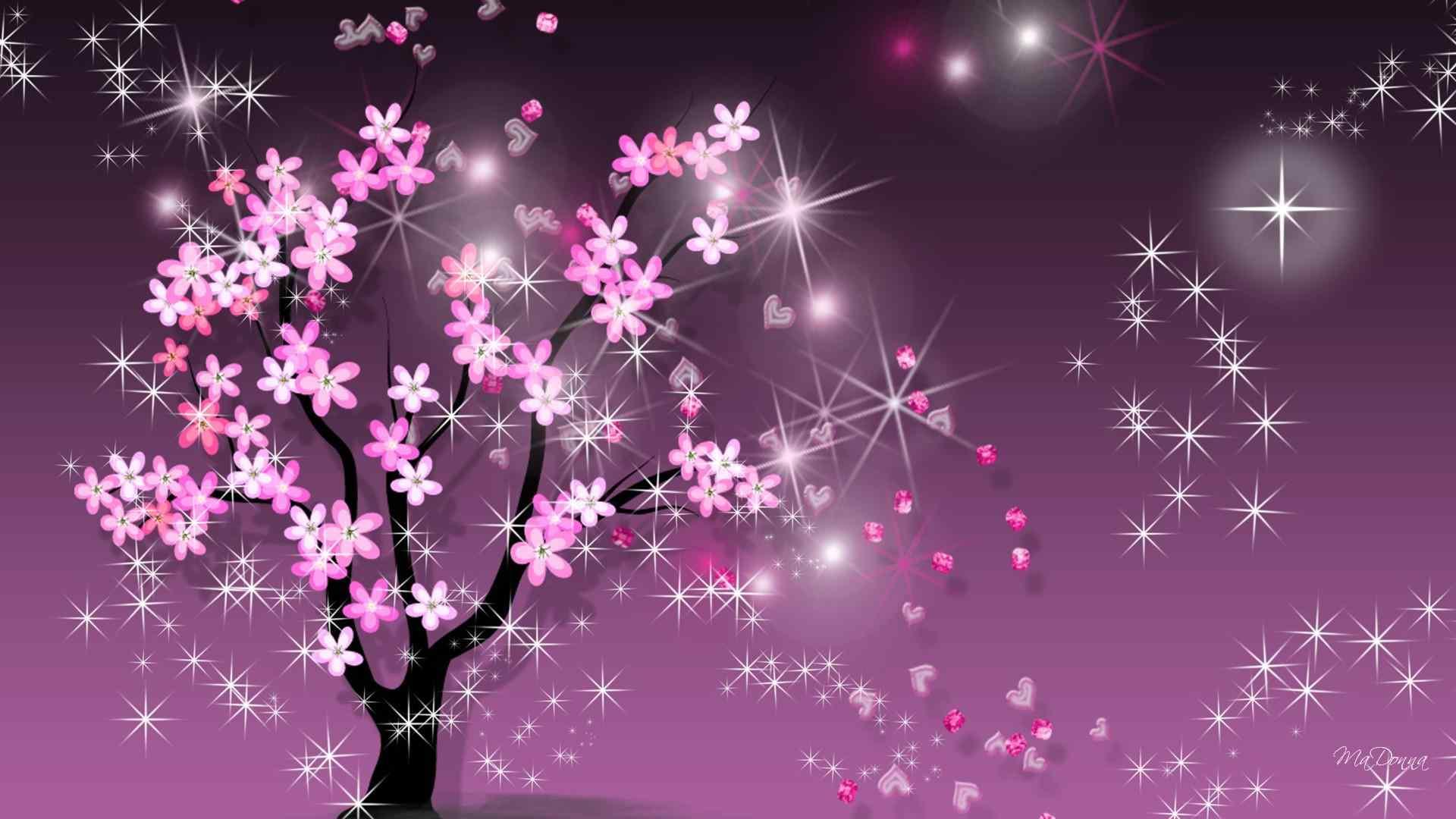 紫色梦幻素材唯美桌面壁纸