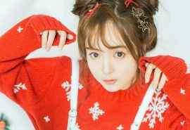 清纯少女圣诞写真