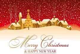 温馨的圣诞节雪花小屋素材图片桌面壁纸