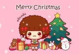 可爱摩丝圣诞快乐