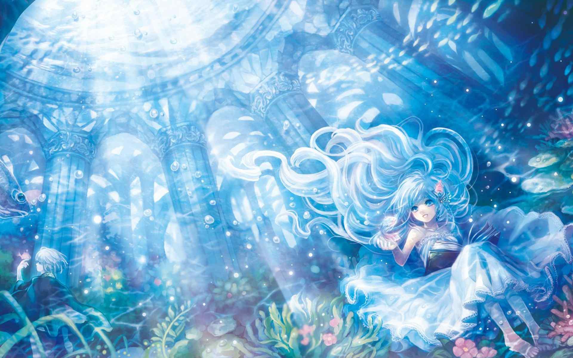 动漫图片 浪漫樱花下的美少女壁纸图片