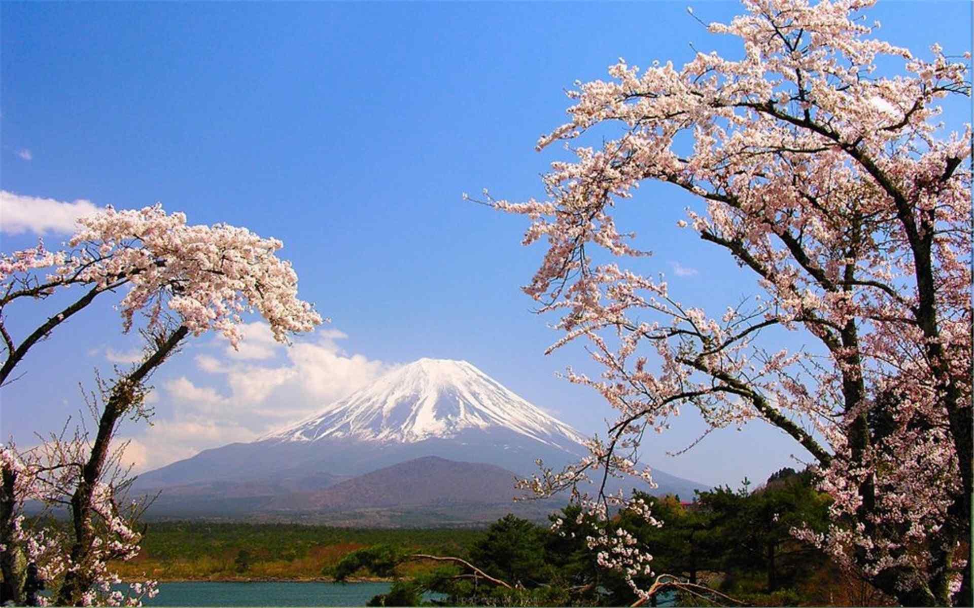 日本富士山唯美风景图片高清壁纸 -桌面天下(Desktx.com)