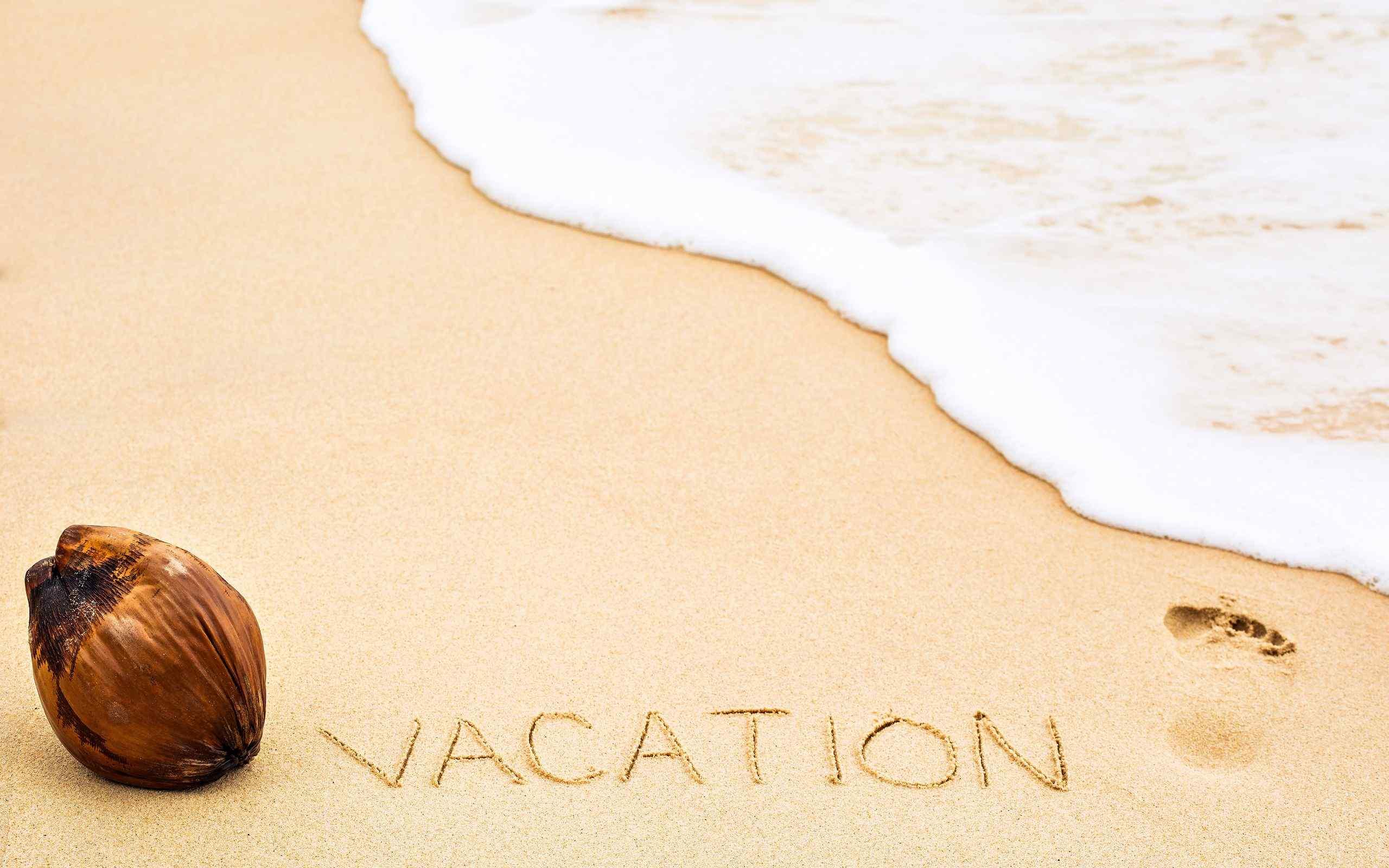 小清新沙滩风景图片高清桌面壁纸