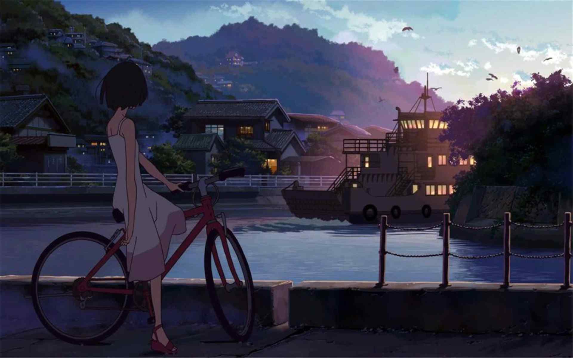 路口 唯美动画场景桌面壁纸图片