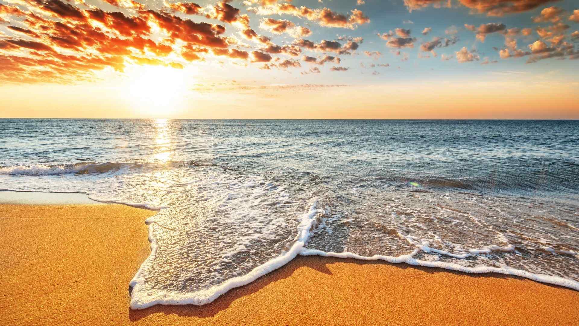 唯美的海边风景高清桌面壁纸图片