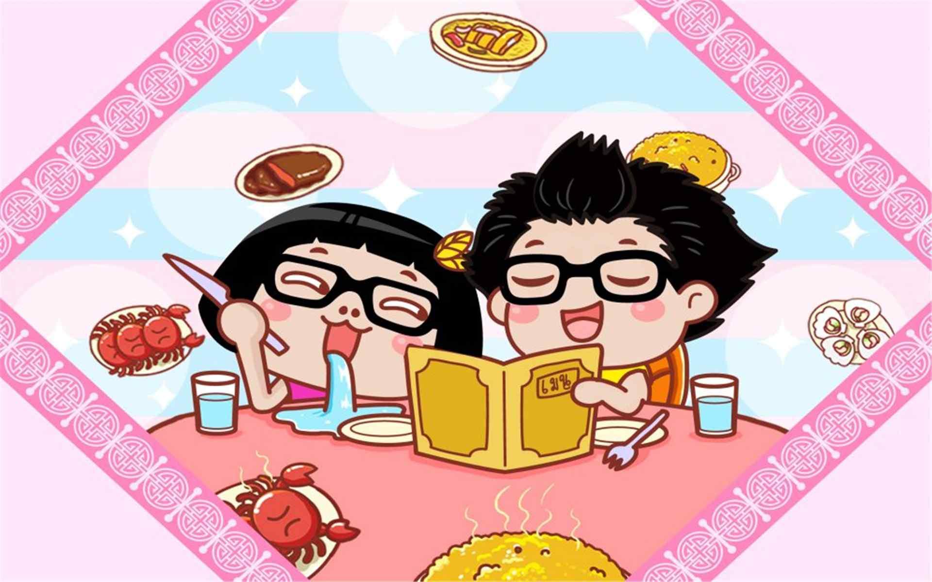 卡通人物可愛的hello菜菜情侶壁紙