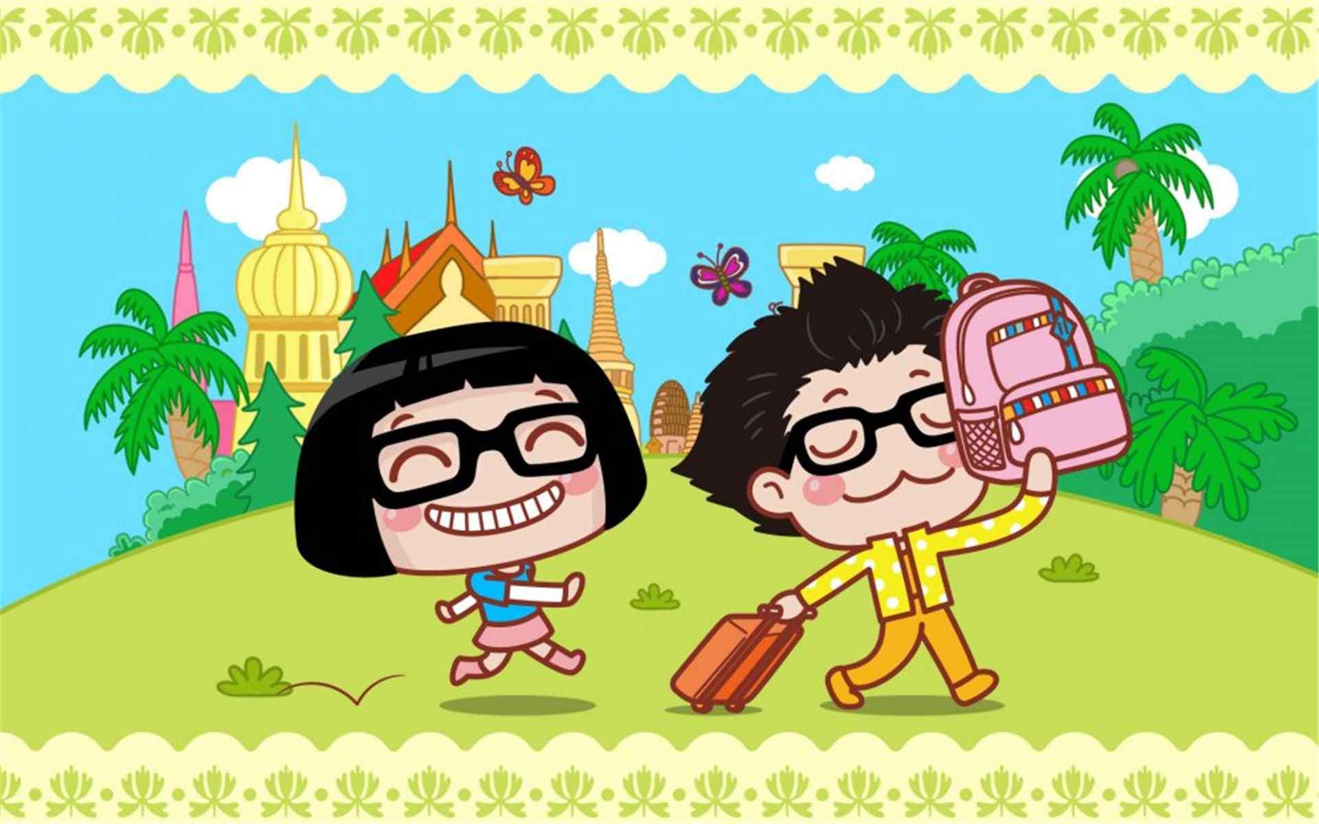 卡通人物可爱的Hello菜菜情侣壁纸。一个头顶蘑菇头、带熊猫黑框眼镜的卡通人物。拥有无敌的乐观精神,搞笑风趣的性格。Hello菜菜(hello-caicai.com)是国内最热门的原创女生卡通形象,诞生于2007年,Hello菜菜的表情头像、漫画和菜菜图片以乐观、搞怪的风格受到大量粉丝的喜爱。