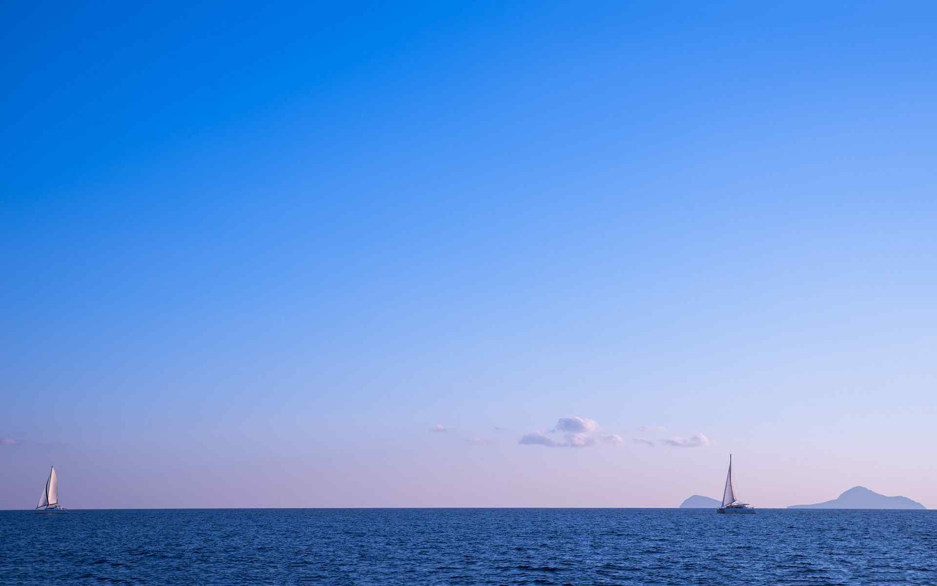 唯美的蓝色风景图片高清桌面壁纸