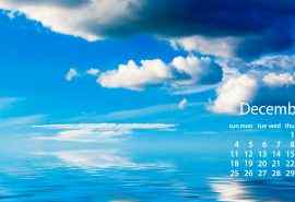 2016年12月日历蓝