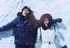 《蓝色大海的传说》滑雪场甜美剧照图片