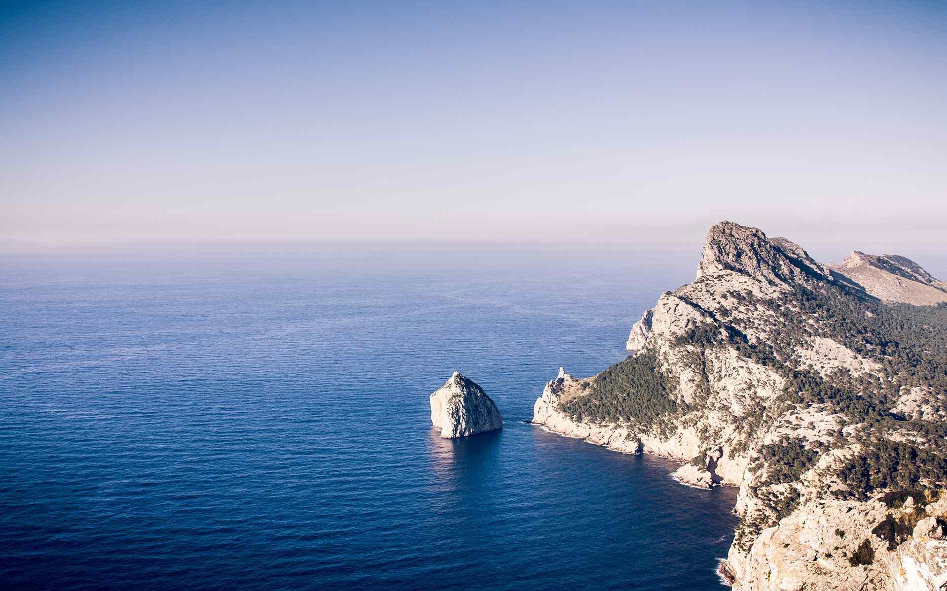 静谧的海边风景唯美图片桌面壁纸图片