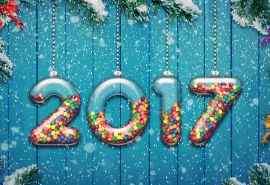 2017年新年快乐节日图片高清桌面壁纸