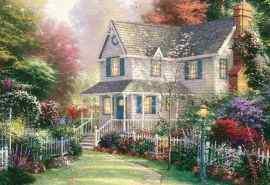 唯美的托马斯金凯德田园风景油画图片