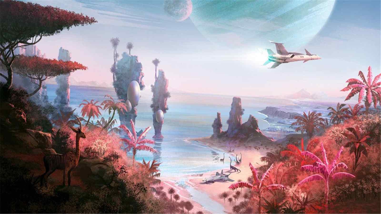 《无人深空》精美游戏场景高清桌面壁纸