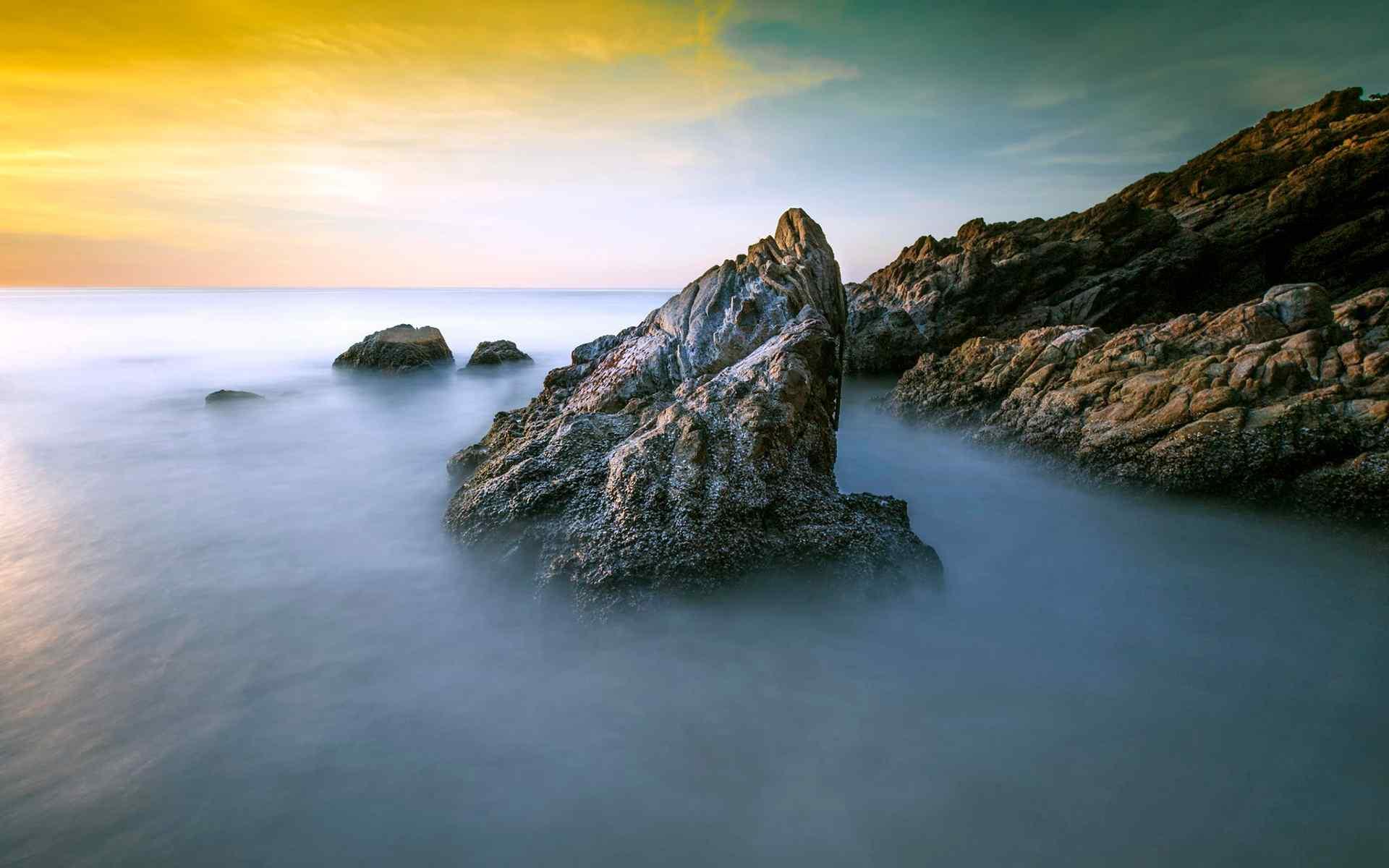 绚烂唯美的晚霞风景图片高清壁纸