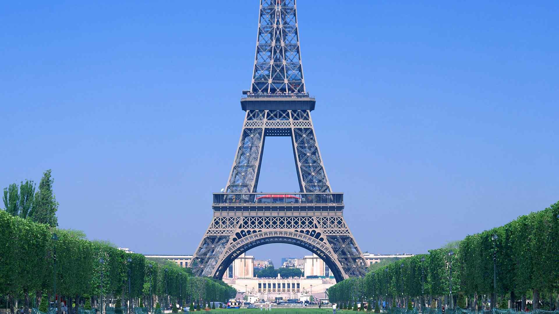 埃菲尔铁塔唯美风景都市美景图片高清桌面壁纸