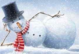 搞怪小雪人圣诞节