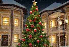 唯美圣诞树高清桌