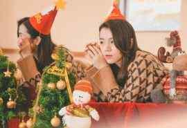 圣诞节清新女孩甜