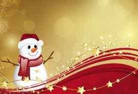 可爱雪人节日喜庆