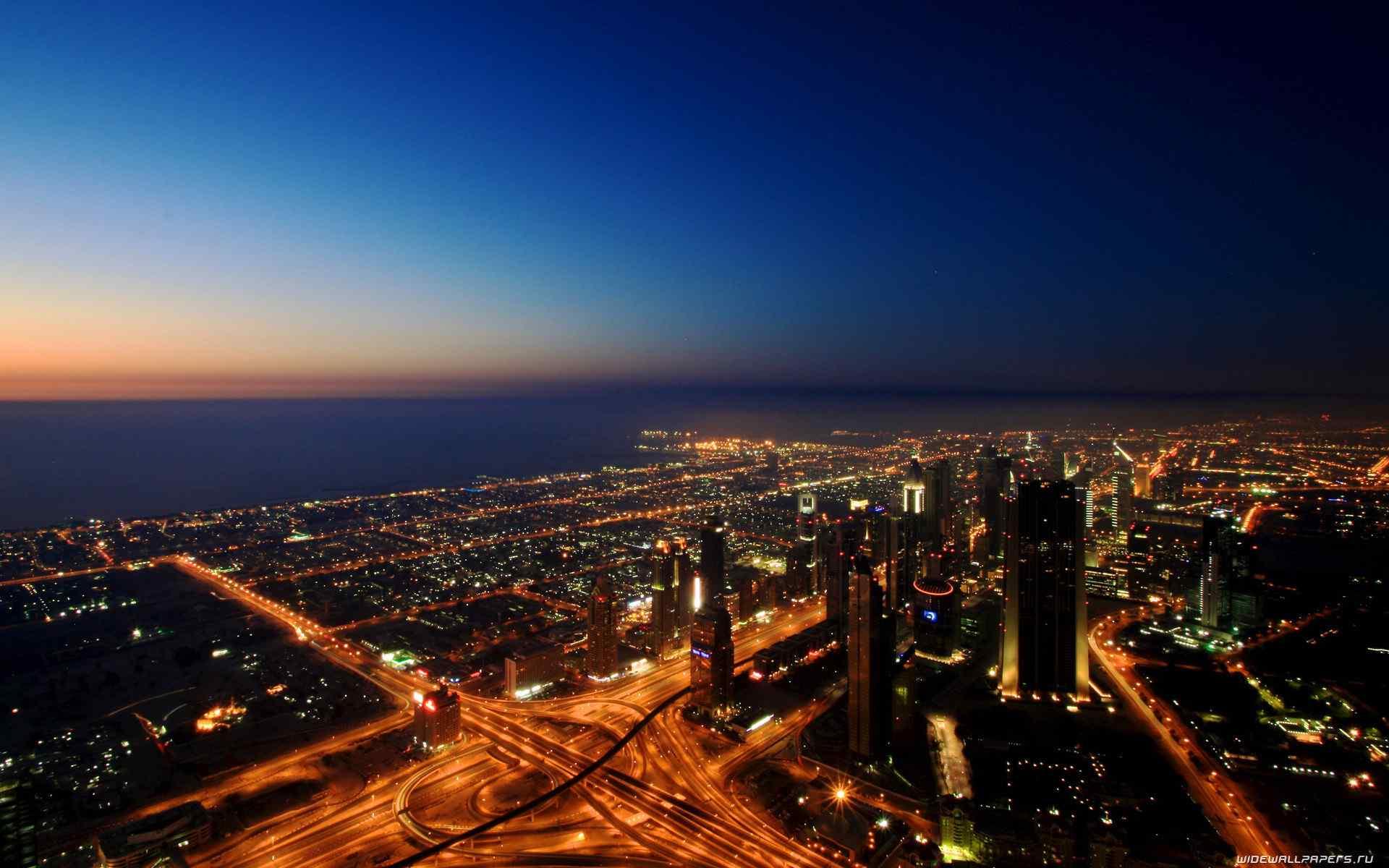 迪拜美丽城市风景高清桌面壁纸