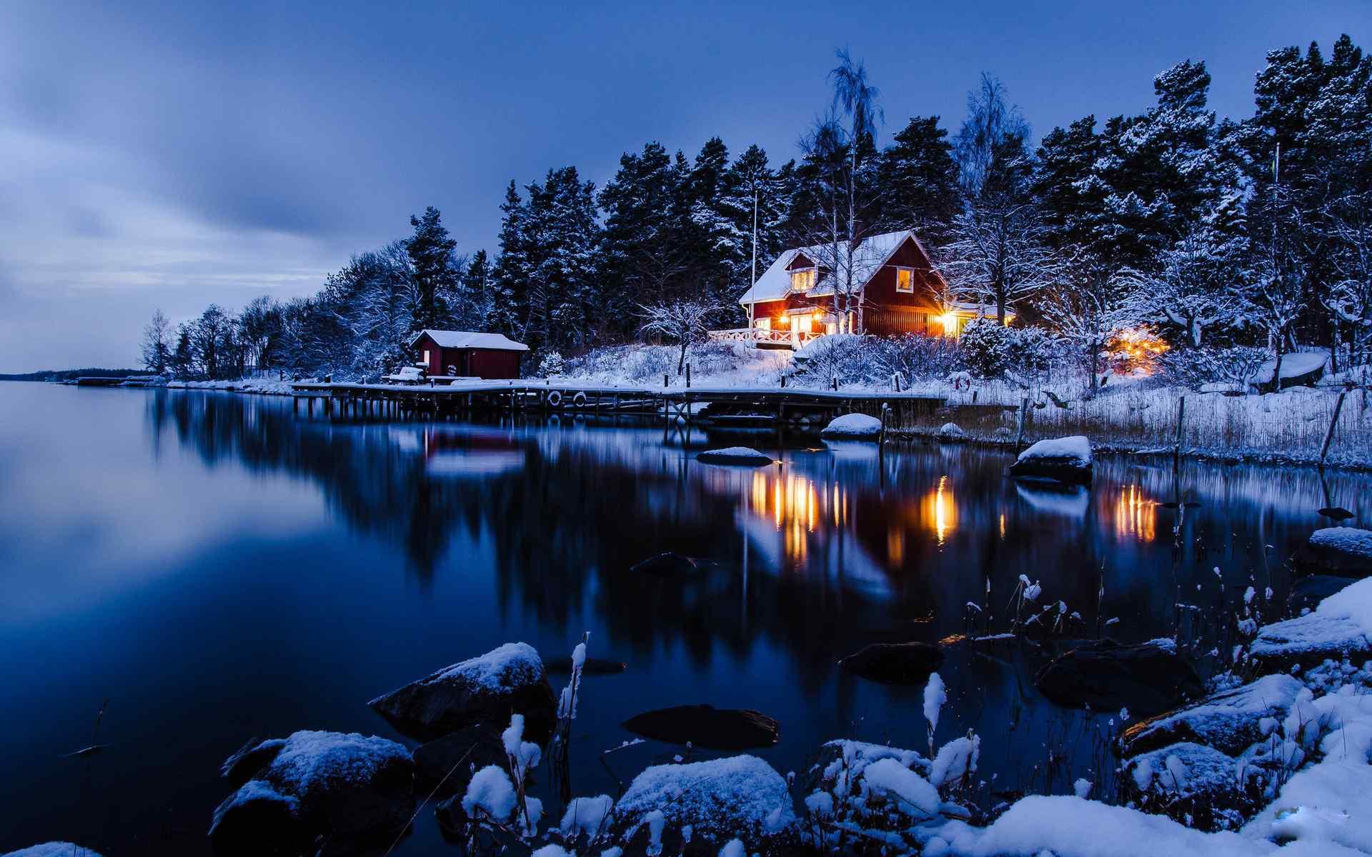 美丽雪景高清桌面壁纸图片