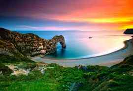 美丽的大海晚霞风景图片高清壁纸