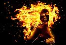 创意火焰人物图像