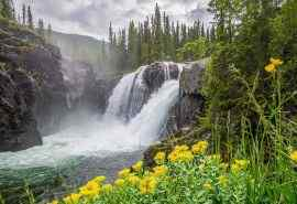 唯美风景瀑布图片