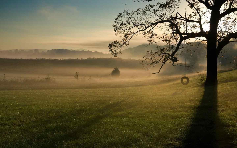 的阳光唯美风景图片高清桌面壁纸