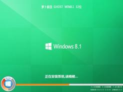 蘿卜家園ghost win8.1 32位經典裝機版V2017.01
